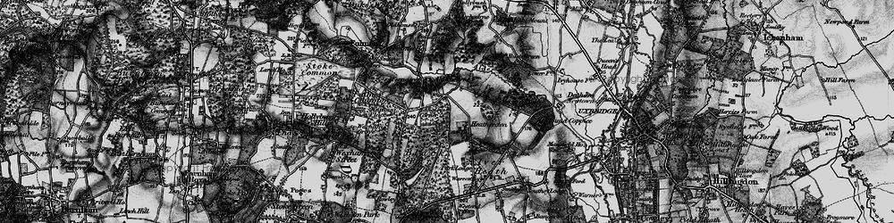 Old map of Alder Bourne in 1896