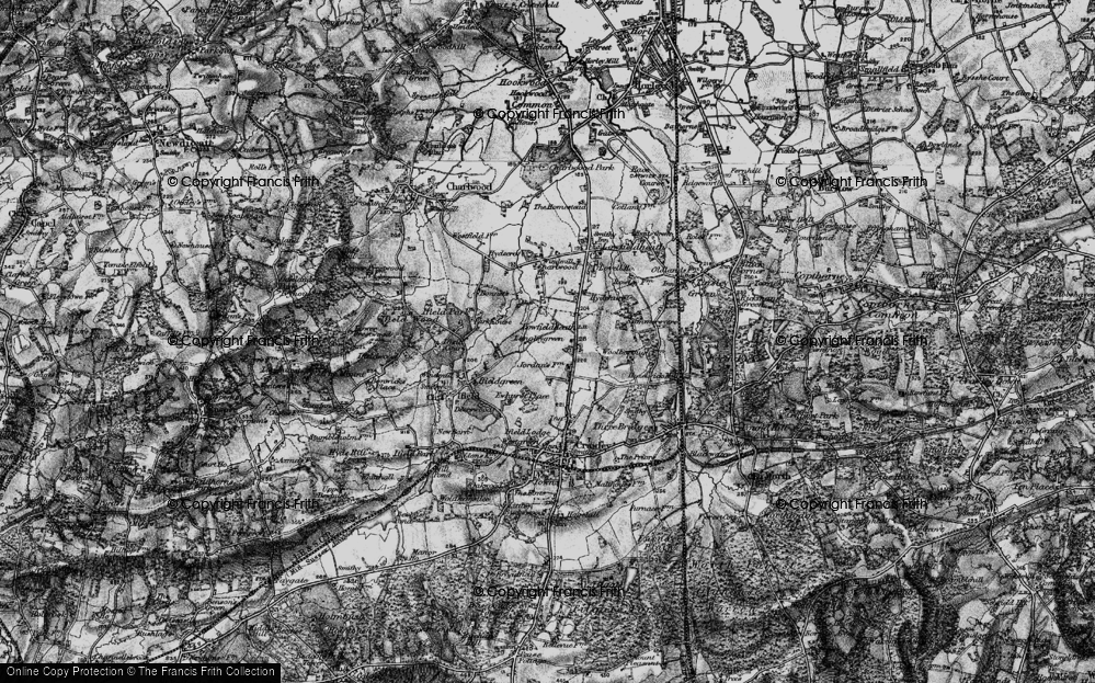 Old Map of Langley Green, 1896 in 1896
