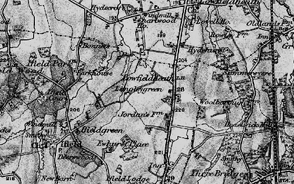 Old map of Langley Green in 1896