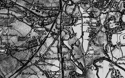Old map of Langley Moor in 1898