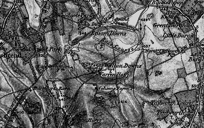 Old map of Langley Vale in 1896