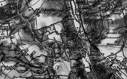 Old map of Langleybury in 1896