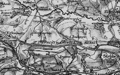 Old map of Langore in 1895