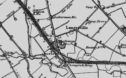 Old map of Langrick Grange in 1898