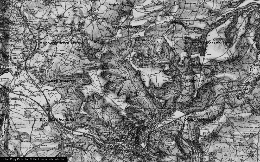 Old Map of Historic Map covering Ashcombe Ho in 1898