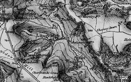 Old map of Langridge Ho in 1898