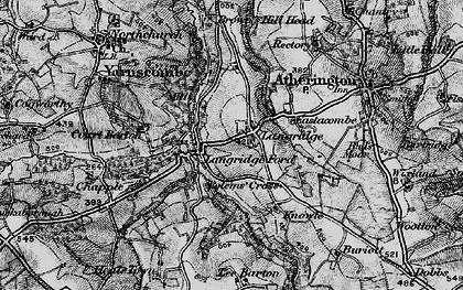 Old map of Langridgeford in 1898