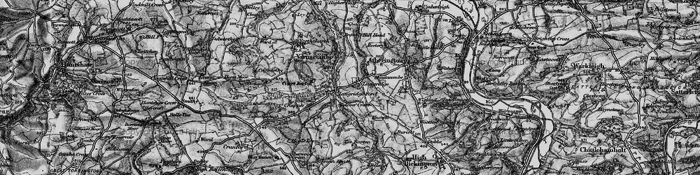 Old map of Langridgeford in 1898