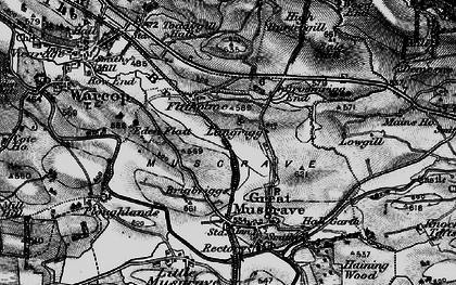 Old map of Langrigg in 1897