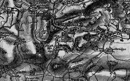 Old map of Langrish in 1895