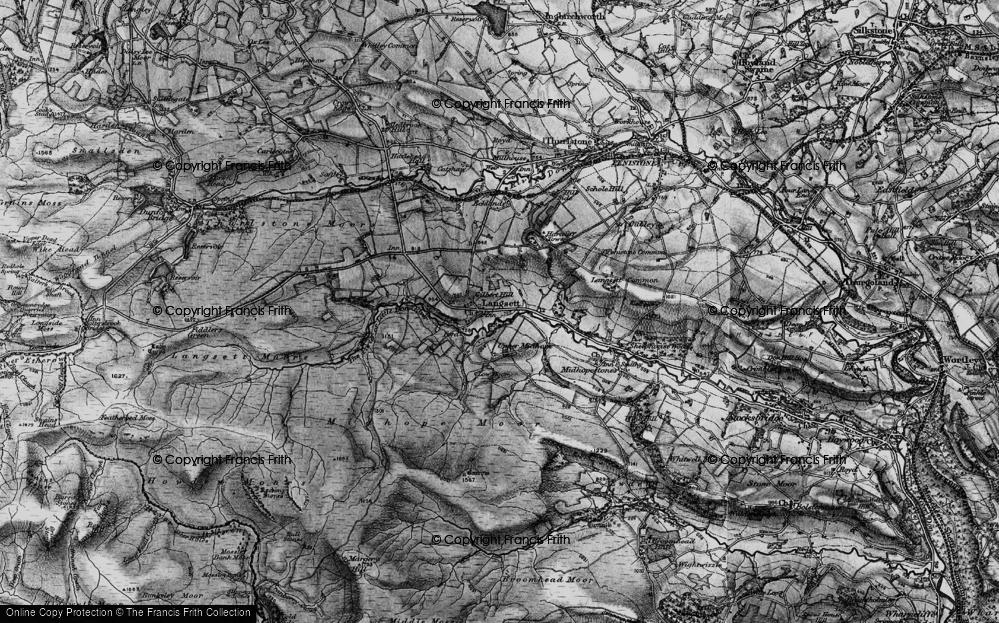 Old Map of Langsett, 1896 in 1896