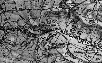 Old map of Langsett in 1896