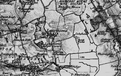 Old map of Ainderby Myres in 1897
