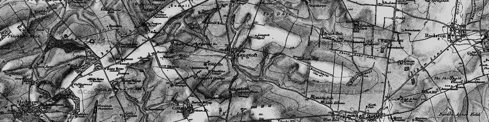 Old map of Woodbine Cott in 1898