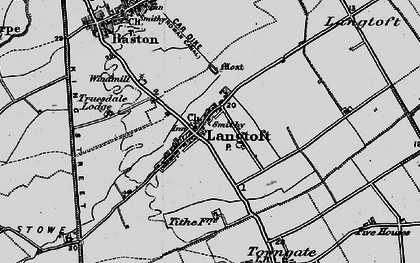 Old map of Willowfield in 1898
