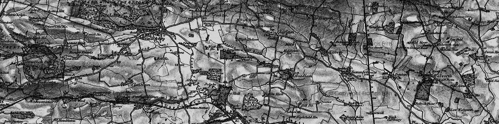 Old map of Alwent Hall in 1897