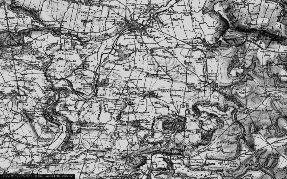 Old Map of Historic Map covering Whitegrounds in 1898