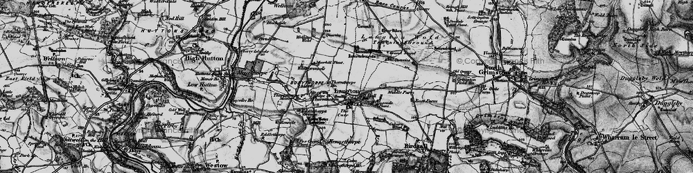 Old map of Langton Wold in 1898