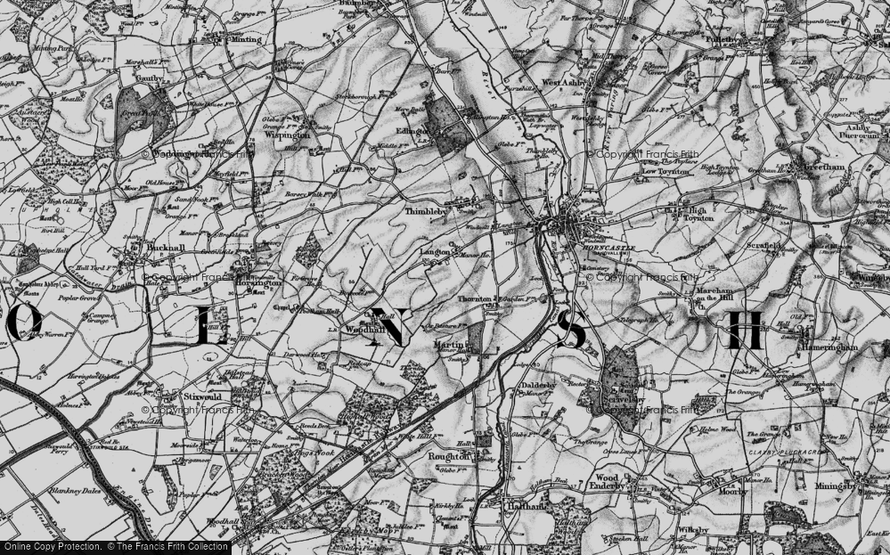 Old Map of Langton, 1899 in 1899