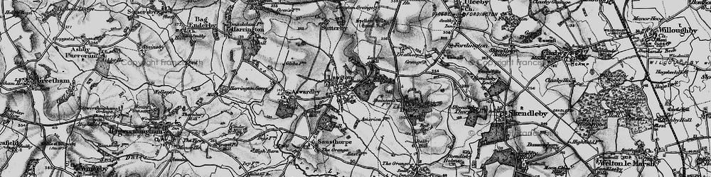 Old map of Langton in 1899