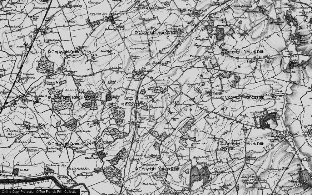 Old Map of Langton by Wragby, 1899 in 1899