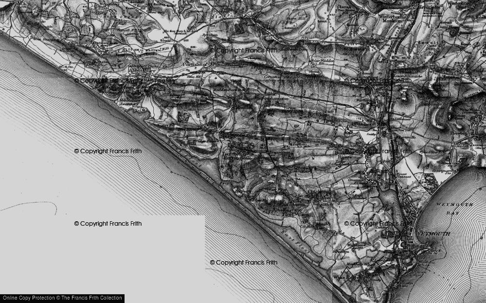 Old Map of Langton Herring, 1897 in 1897
