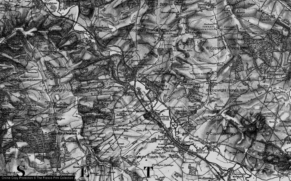 Old Map of Langton Long, 1895 in 1895
