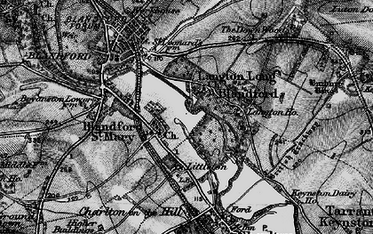 Old map of Langton Long in 1895
