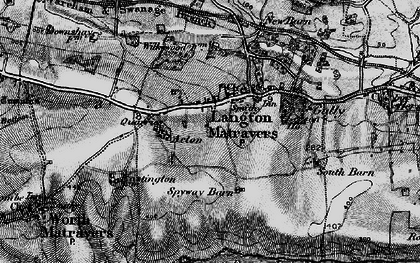 Old map of Langton Matravers in 1897