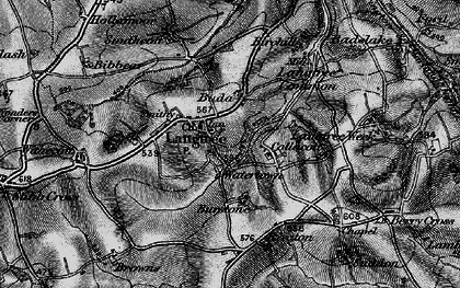 Old map of Langtree in 1895