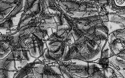 Old map of Badslake in 1895