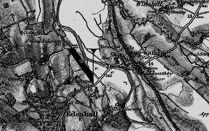 Old map of Langwathby in 1897