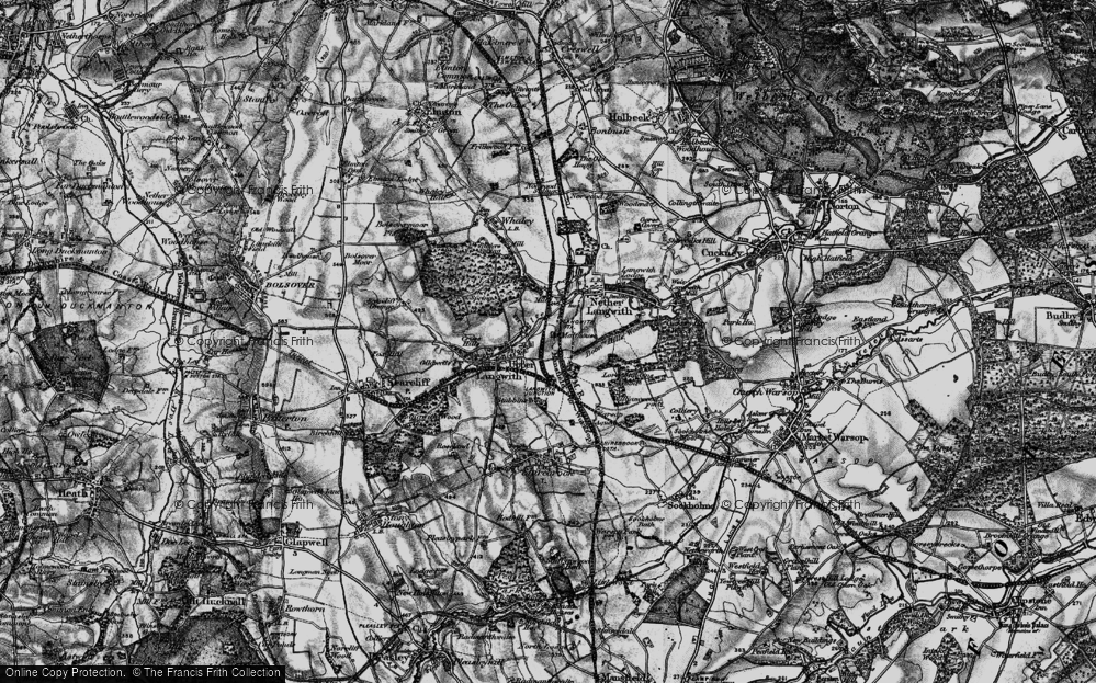 Old Map of Langwith, 1899 in 1899