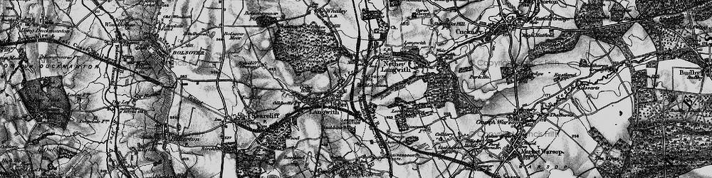 Old map of Langwith in 1899