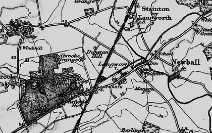 Old map of Langworth in 1899