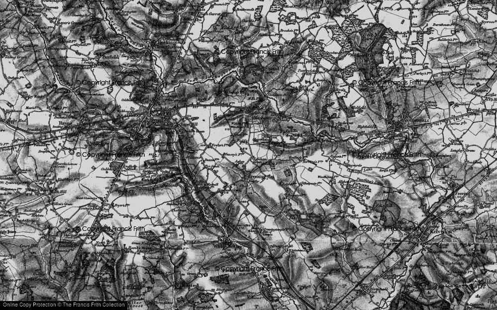 Old Map of Lanham Green, 1896 in 1896