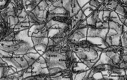 Old map of Lanivet in 1895