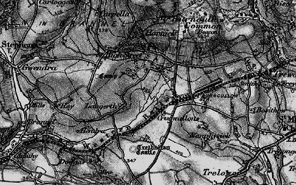 Old map of Lanjeth in 1895