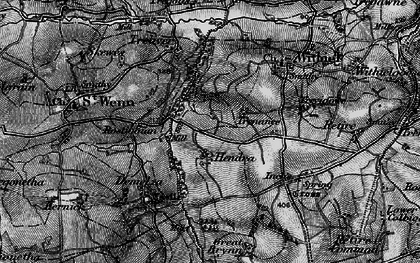 Old map of Lanjew in 1895