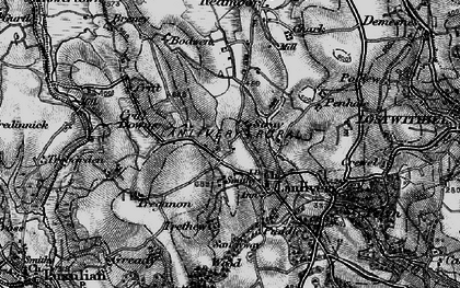 Old map of Lanlivery in 1895