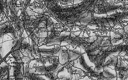 Old map of Lanner in 1895