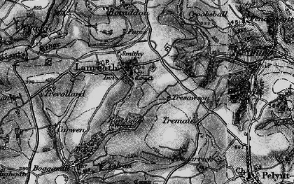 Old map of Lanreath in 1896