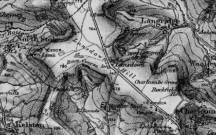 Old map of Lansdown in 1898