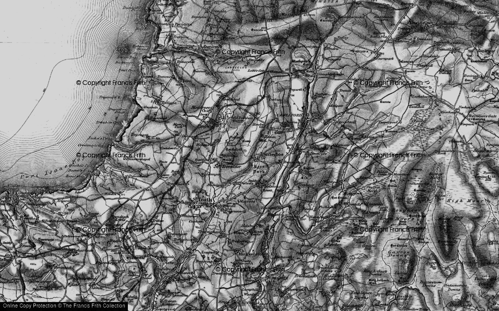 Old Map of Lanteglos, 1895 in 1895