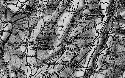 Old map of Lanteglos in 1895