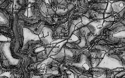 Old map of Lanteglos Highway in 1896