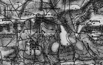 Old map of Lantuel in 1895