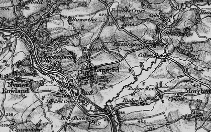 Old map of Lapford in 1898