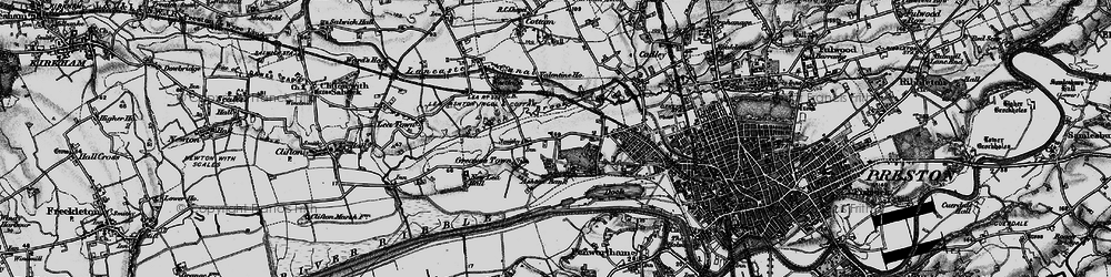 Old map of Larches in 1896