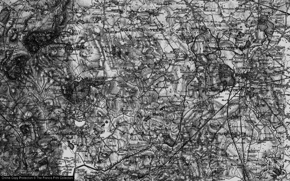 Old Map of Larden Green, 1897 in 1897